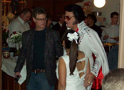 Elvis with Mike and Ann